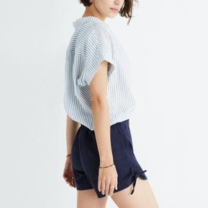 Madewell Side Tie Shorts Navy Blue Sz Small